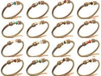 Bulk !! Wholesale Lot Tibetan Silver Brass 10PCs Opal Mix Gemstone Cuff Jewelry