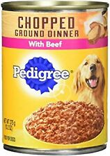PEDIGREE Meaty Ground Dinner With Chopped Beef Canned Dog Food 22 Ounces (Pack o
