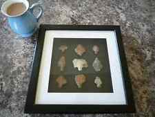 Paleolithic Arrowheads in 3D Picture Frame, Authentic Artifacts 70,000BC (O004)