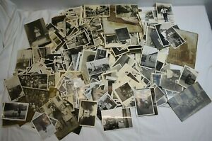 Alte Fotos. Amateuraufnahmen. Konvolut. Knapp 0,7 Kg.