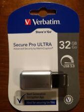 Verbatim 32GB Store 'n' Go Secure Pro Ultra USB 3.0 Flash Drive 99184