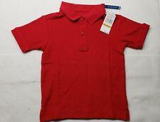 Nautica Little Boys' Uniform Short Sleeve Pique Polo Color Red Size 4 Small