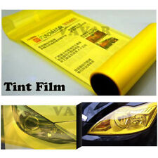 "Gold Yellow 12""x60"" Headlight Taillight Fog Light Tint Vinyl Film Roll Sticker"