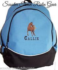 ARABIAN Horse Blue Backpack Book Bag PERSONALIZED monogrammed NEW school