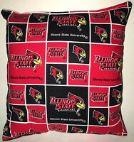 Illinois State Pillow Illinois State University Pillow NCAA HANDMADE IN USA