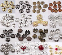500pcs Silver/Gold/Black/Bronze Metal Flower Bead Caps 6mm Jewelry Findings 6mm