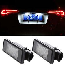 2pcs License Plate Light Lamp 18 LED for Peugeot 207 308 406 407 for Citroen C2