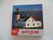 """Springbok """" Lighthouse Quoddy Head """" Puzzle 1000 Pieces 1JIG10467"""