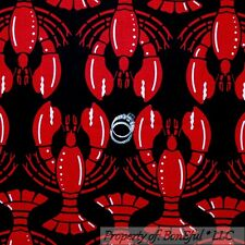 BonEful FABRIC FQ Cotton Quilt Black Red Lobster Large Beach Ocean Sea*Food Cook