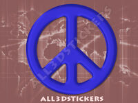 Pegatina Simbolo Paz 3D Relieve - Color Azul
