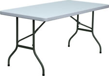 Lot of 10 5ft Folding Banquet Catering Tables
