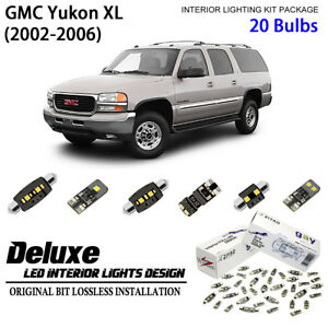 20 Bulbs LED Interior Dome Light Kit Xenon White Lamp For 2000-2006 GMC Yukon XL