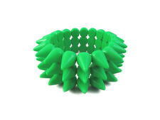 NEON GREEN CYBER SPIKE BRACELET SPIKED STUDDED ROCK GOTH PUNK EMO CANDY RAVE