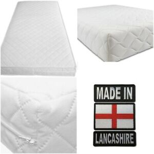 Cot Bed Mattress 120 x 60 / 140 x 70 Pure Foam (24/48 Hour Delivery)* Made in UK