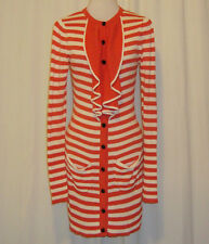 BEAUTIFUL SASS&BIDE IVORY AND ORANGE STRIPED CARDIGAN DRESS MEDIUM (AUS 10,US 4)