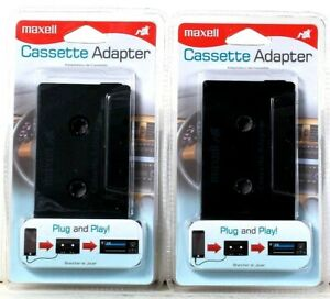 2 Count Maxell Plug And Play Cassette Adapter For iPod iPhone iPad Smartphone
