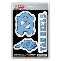 north carolina tar heels ncaa college spirit car auto sticker decal set usa made