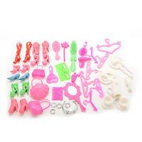 50 Pcs Kids Doll Accessories Shoes Wineglass Hangers Hair Dryer For _AU
