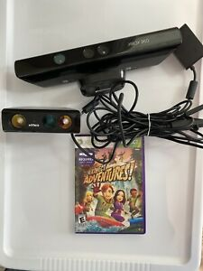 XBOX 360 Kinect Sensor Bar with Nyko Zoom Adapter & Kinect Adventures Game