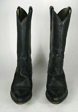Larry Mahan Boots Size 7 N NARROW Women's Western Cowboy Black Texas USA Women