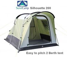 Sunncamp Silhouette 200 Tent - 2017 Model - Easy to pitch 2 berth tent