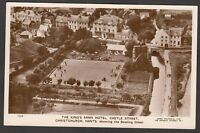Postcard Christchurch Dorset aerial view The King's Arms Hotel Castle Street RP