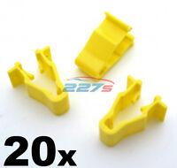 20x Honda Civic, CRV & HRV Yellow Wheel Arch Trim Clips- Snap Fit  90601-SMG-003