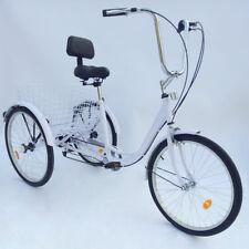 """24"""" 6 Geschwindigkeit 3 Rad Erwachsenen Dreirad Fahrrad Pedal Dreirad Trike"""