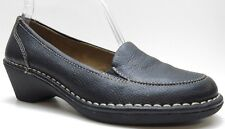Naturalizer Black Leather Wedge Loafer Dress Pump 6M 6 MSRP $79