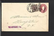VALLEY STREAM, NEW YORK 1901 REGISTERED COVER, NASSAU CO 1870/OP.