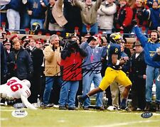 CHARLES WOODSON RP SIGNED 8X10 PHOTO MICHIGAN WOLVERINES PUNT RETURN VS OHIO 2