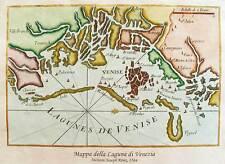 Laguna di VENEZIA, 1764 - Stampa incisa e dipinta a mano cm. 42x30