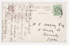 H.J. Walton Esq., 15 Union Street Barnsley Postcard, M016