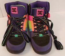 DC Womens Rebound Hi Multi-Color 302164 Shoes Lace Up Colorful Laces Size 9 WIDE