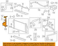 Chevrolet GM OEM 13-15 Malibu 2.5L-L4 Radiator-Upper Baffle 20789654