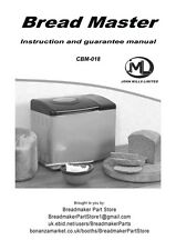 John Mills Cbm018 Bread Machine Owners Manual