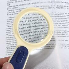 5X HANDHELD READING TOOL LENS MAGNIFIER GLASS WITH LED LIGHT MAGNIFICATION HAND