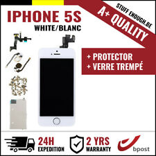 A+ LCD TOUCH SCREEN SCHERM ÉCRAN ASSEMBLY WHITE BLANC+VERRE TREMPÉ FOR IPHONE 5S