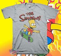 New Bart Simpson Skateboard Classic Retro  T-Shirt