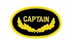 Patch ecusson brode thermocollant marine naval aviation captain commandant