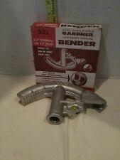 Gardner No 931 Tubing Bender 3/4 Thinwall 1/2� Rigid Tubing Rebar Barely used