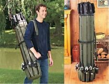 Fishing Rod Case Holder Carrier Rack Hooks Pole Storage Organizer Portable Strap