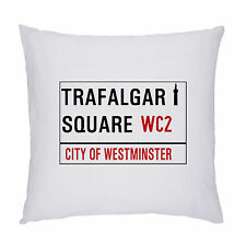 LONDON STREET SIGN CUSHION / PILLOW 45 X 45CM.INC PADDING. TRAFALGAR SQUARE WC2