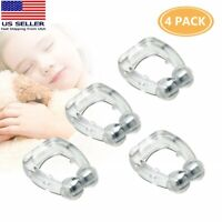4PC Silicone Magnetic Anti Snore Nose Clip Stop Snoring Apnea Aid Device Stopper