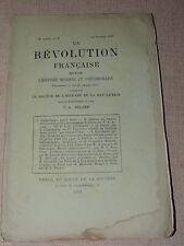 REVUE LA REVOLUTION FRANCAISE 1893  CATHELINEAU  DANTON  PAYS DE VAUD ETC...