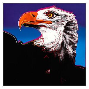 Bald Eagle by Andy Warhol 54cm x 54cm High Quality Art Print