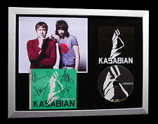 KASABIAN+SIGNED+FRAMED+PROCESSED BEATS+FOOT=100% AUTHENTIC+EXPRESS GLOBAL SHIP