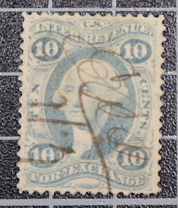 Scott R35e 10 Cents Foreign Exchange Revenue Used Nice Stamp SCV $20.00