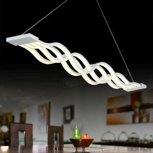 Modern Creative Led Wave Pendant Light Acrylic LED Wavy Hanging Lamp Lighting