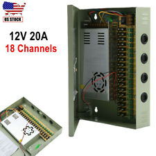 18Ch Channel Power Supply Distribution Box 12V DC 20A for CCTV Security Camera